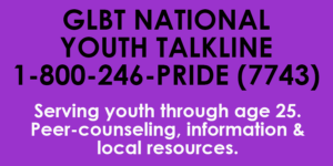 GLBT National Youth Talkline | NRS Organization of the Month | June 2017