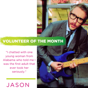 Jason, Volunteer of the Month